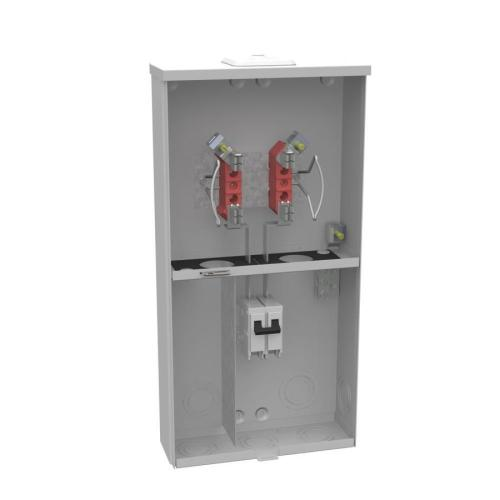 small resolution of milbank 100 amp ringless single phase 120 240 meter socket