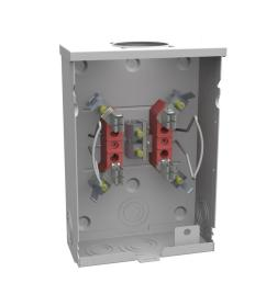 milbank 125 amp ringless single phase 120 240 meter socket [ 900 x 900 Pixel ]