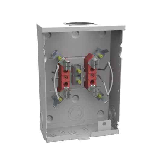 small resolution of milbank 125 amp ringless single phase 120 240 meter socket