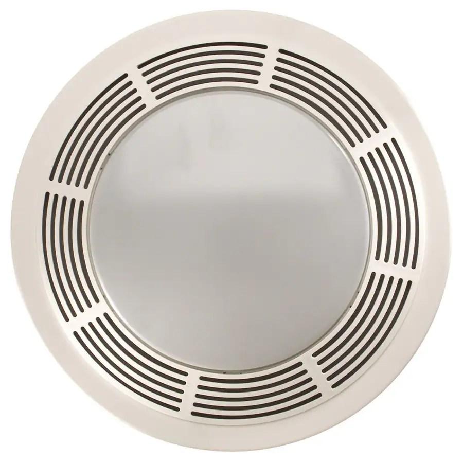 Shop NuTone 35Sone 100CFM Polymeric White Bathroom Fan with Light at Lowescom