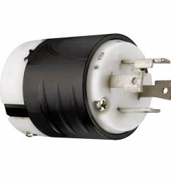 pass seymour legrand pass seymour turnlok 30 amp volt black white 4 wire grounding plug [ 900 x 900 Pixel ]