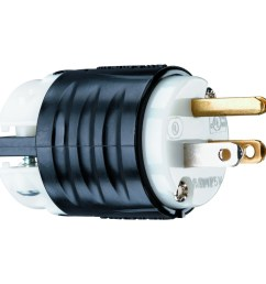 legrand 15 amp 125 volt black white 3 wire grounding plug [ 900 x 900 Pixel ]