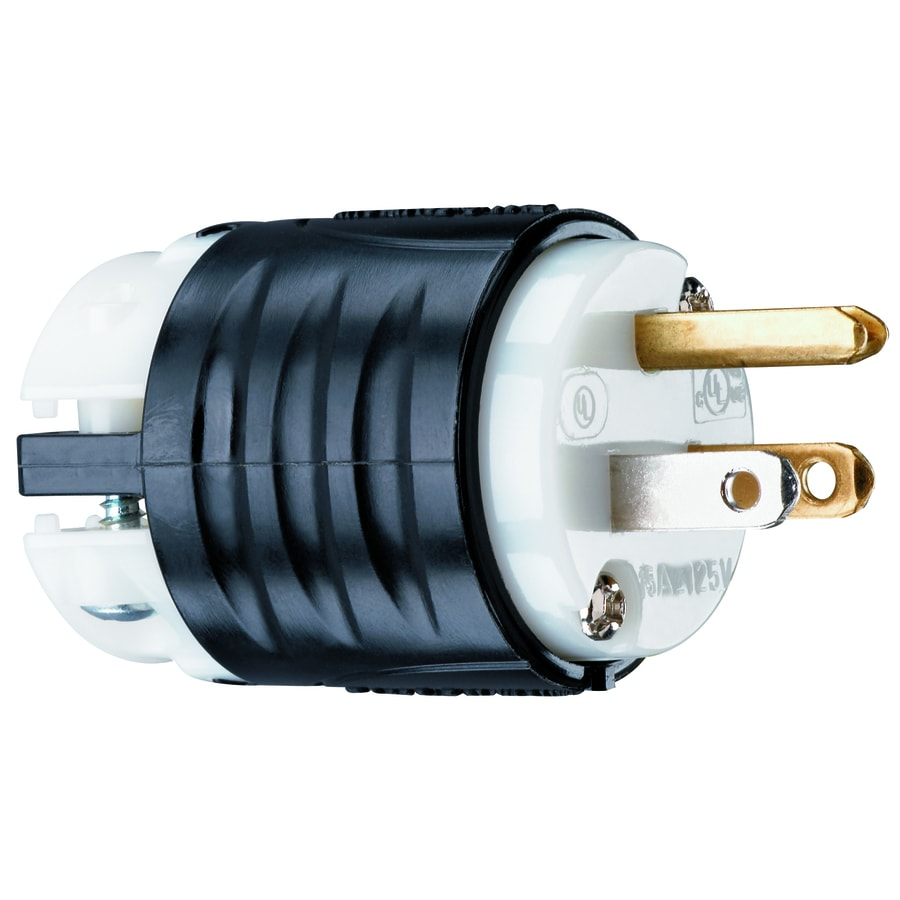 hight resolution of legrand 15 amp 125 volt black white 3 wire grounding plug