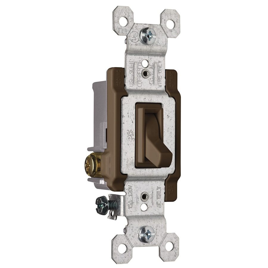 4 Way Light Switch Brown