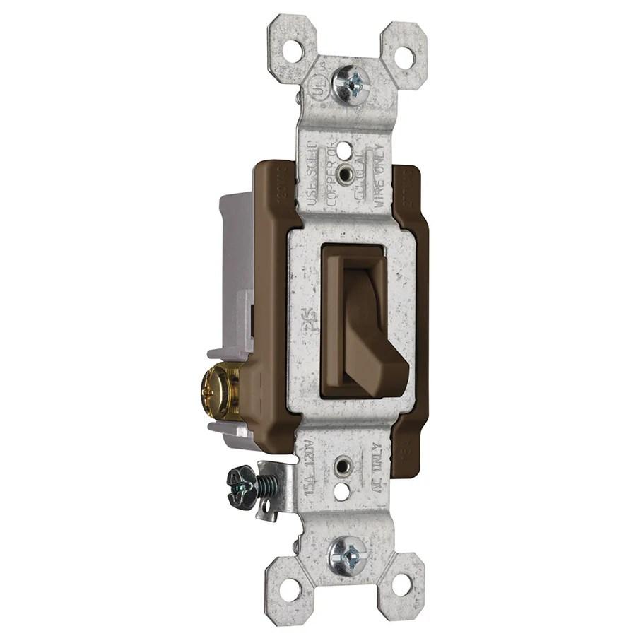 medium resolution of pass seymour legrand 15 amp 3 way brown framed toggle light switch rh lowes com 3