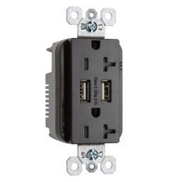 legrand brown 20 amp decorator tamper resistant commercial usb outlet [ 900 x 900 Pixel ]