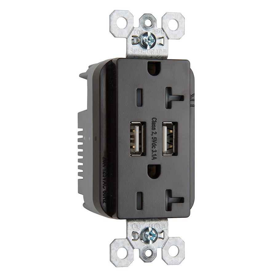 medium resolution of legrand brown 20 amp decorator tamper resistant commercial usb outlet
