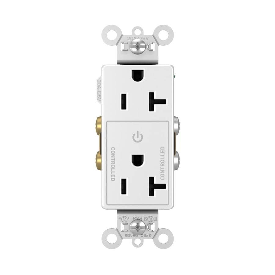 hight resolution of legrand plug load white 20 amp decorator commercial outlet