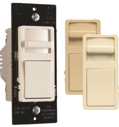 legrand wide slide 450 watt single pole 3 way white light almond ivory led dimmer [ 900 x 900 Pixel ]