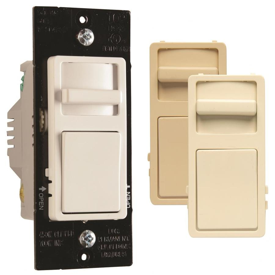 medium resolution of legrand wide slide 450 watt single pole 3 way white light almond ivory led dimmer