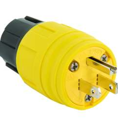 legrand 15 amp 125 volt yellow 3 wire grounding plug [ 900 x 900 Pixel ]