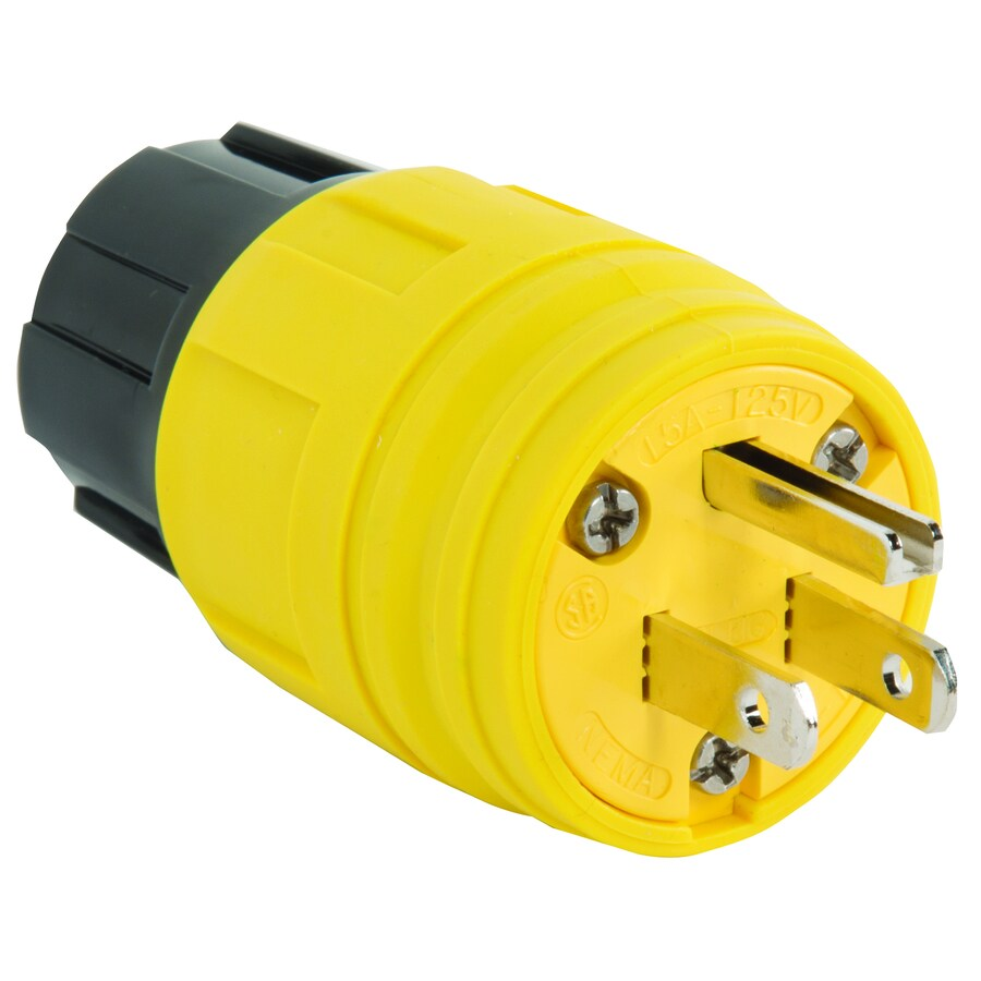 hight resolution of legrand 15 amp 125 volt yellow 3 wire grounding plug