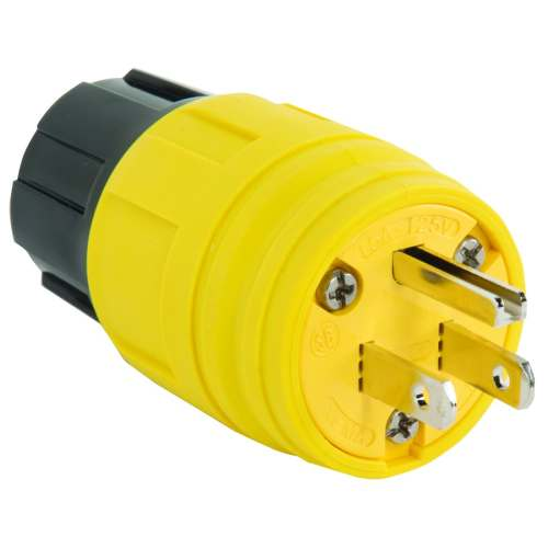 small resolution of legrand 15 amp 125 volt yellow 3 wire grounding plug