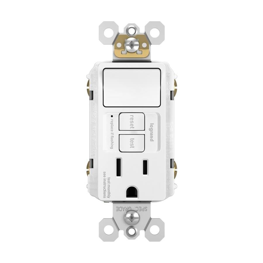hight resolution of legrand radiant white 15 amp decorator tamper resistant gfci residential commercial outlet switch