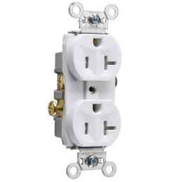 legrand white 20 amp duplex tamper resistant commercial outlet [ 900 x 900 Pixel ]