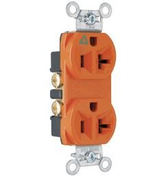 legrand orange 20 amp duplex commercial outlet [ 900 x 900 Pixel ]