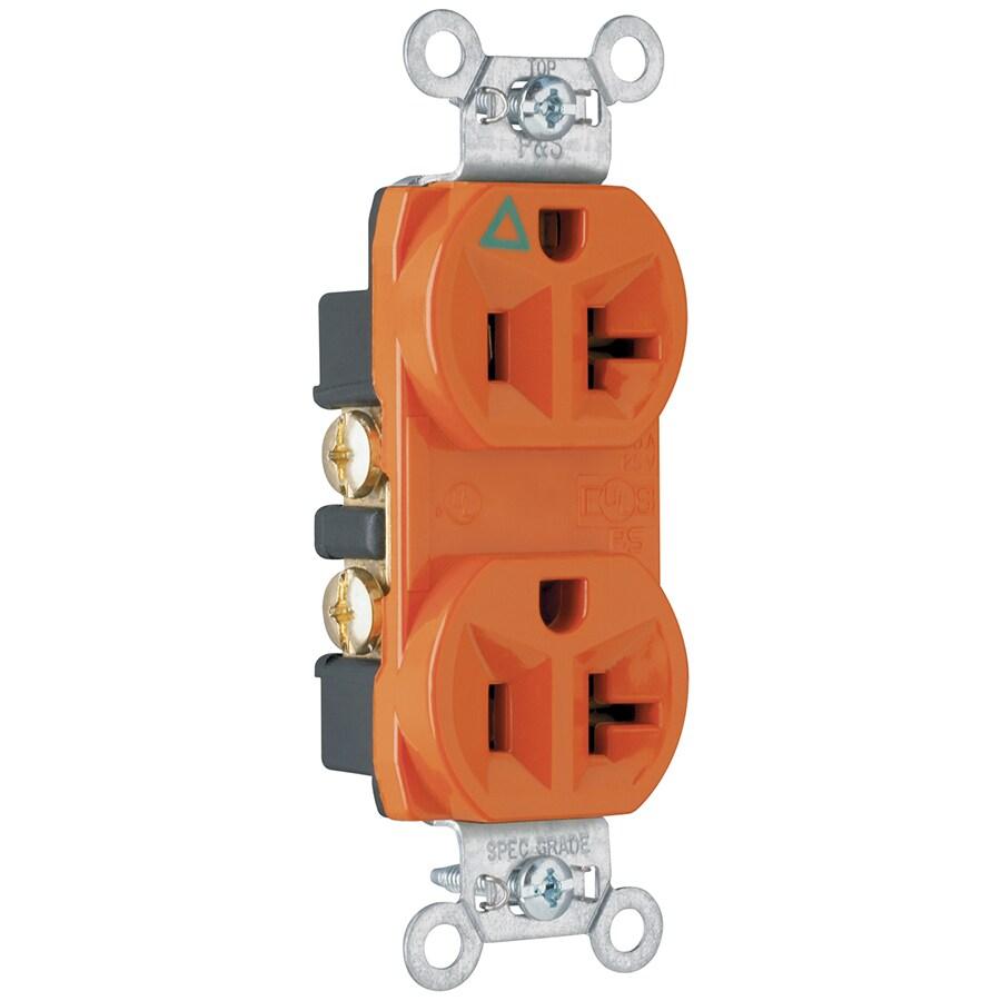 medium resolution of legrand orange 20 amp duplex commercial outlet