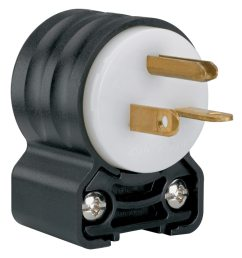 legrand pass seymour 20 amp volt black white 3 wire grounding plug [ 900 x 900 Pixel ]