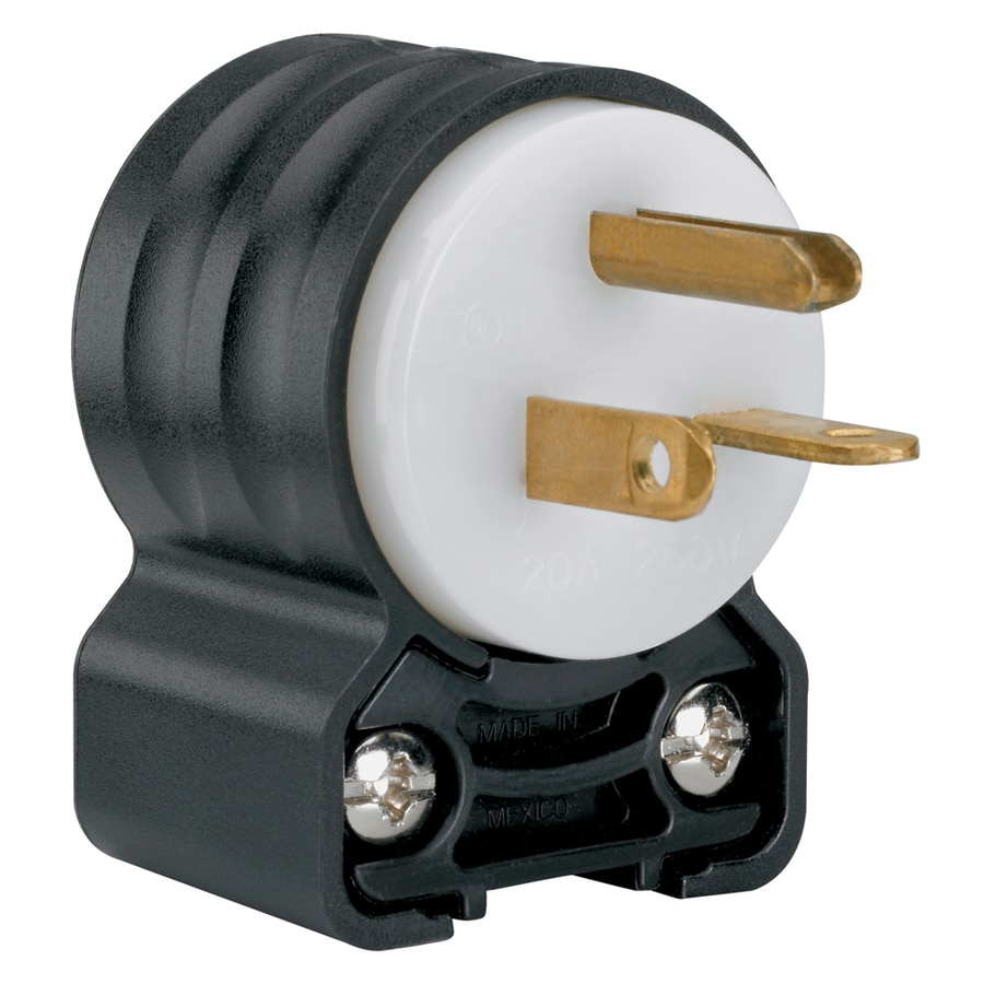 medium resolution of legrand pass seymour 20 amp volt black white 3 wire grounding plug