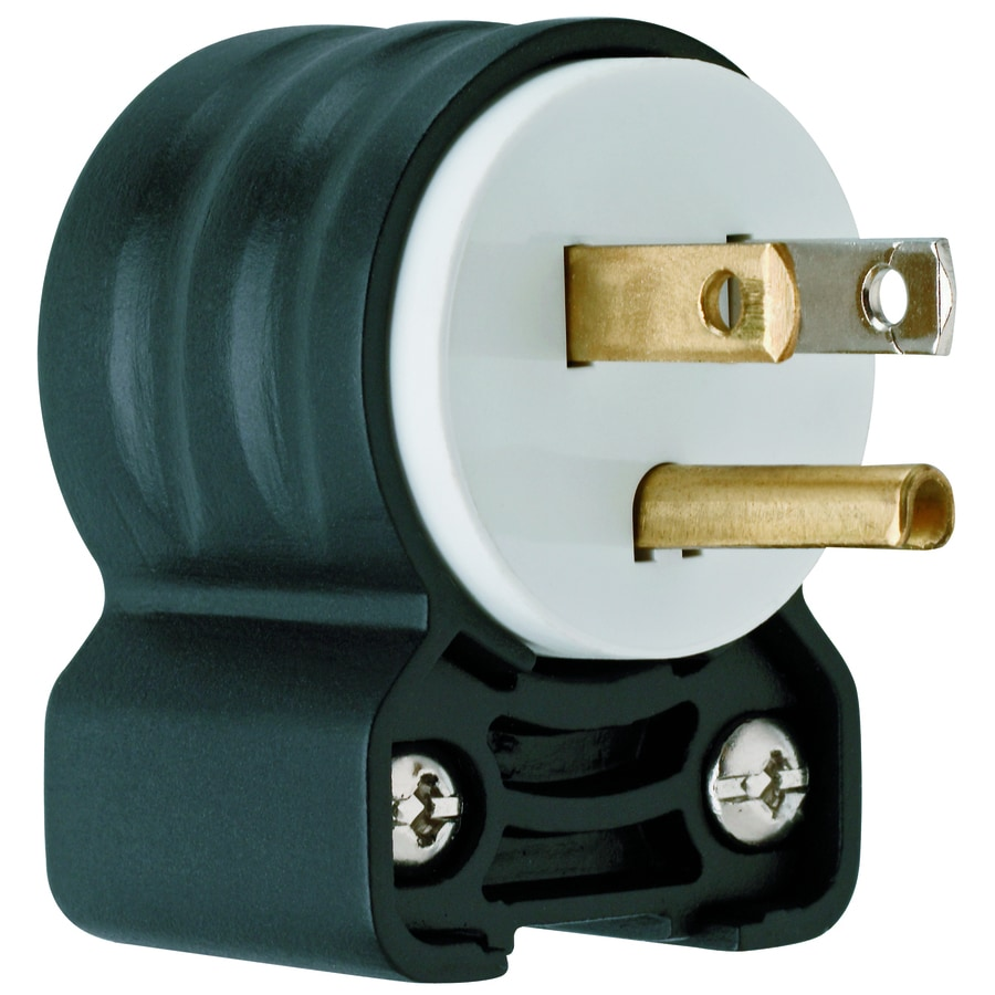 Shop Cooper Wiring Devices 15amp 125volt Black 3wire Grounding Plug