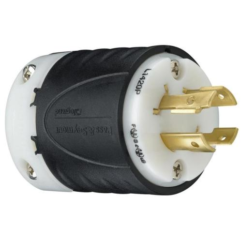small resolution of legrand pass seymour turnlok 20 amp 125 250 volt black white 4 wire grounding plug