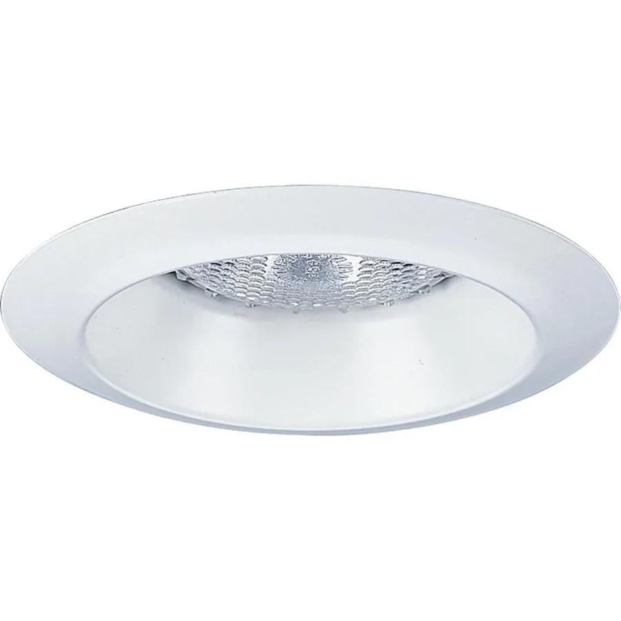 progress lighting 4 in white open recessed light trim