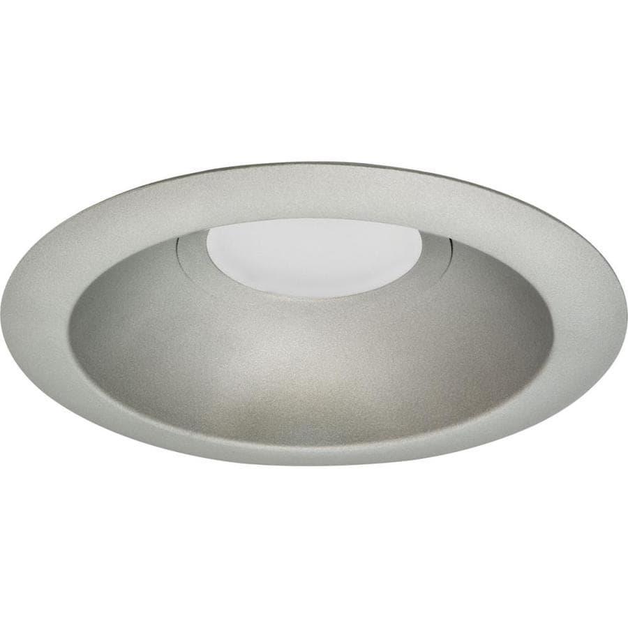 progress lighting recessed trim 6 in metallic gray open recessed light trim
