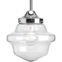 Shop Progress Lighting Schoolhouse 8-in Chrome Mini Clear ...