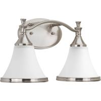 Shop DELTA Valdosta 2-Light 15.125-in Brushed Nickel Bell ...