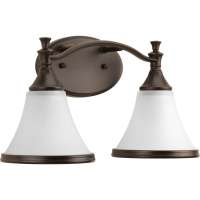 Shop DELTA Valdosta 2-Light 15.125-in Venetian Bronze Bell ...