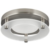Shop Progress Lighting 7.24-in W Brushed nickel LED Flush ...