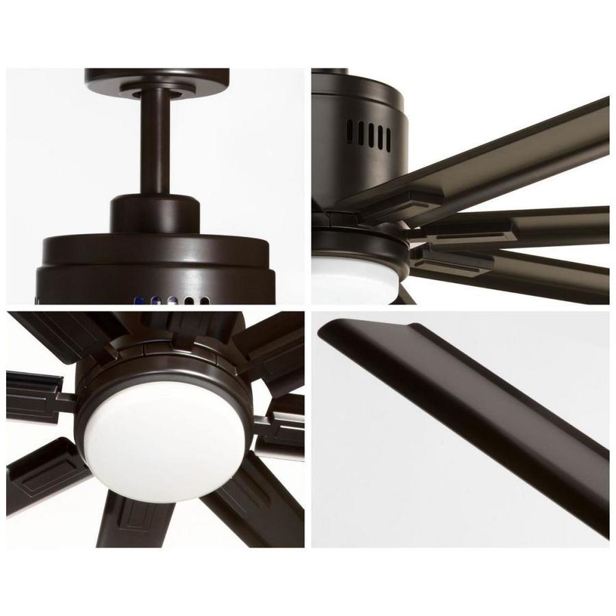 progress lighting p2550 2030k vast collection 72 16w led 8 blade fan antique bronze ceiling fans