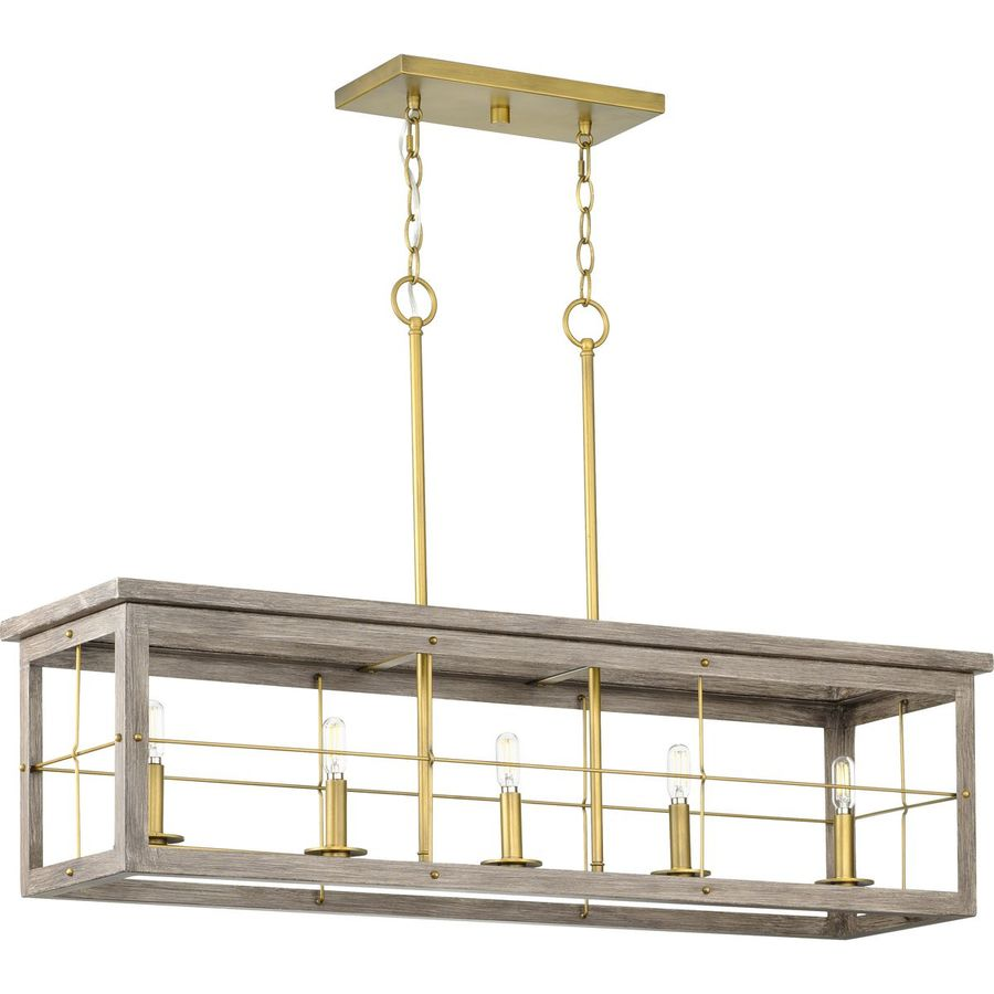 https www lowes com pd progress lighting hedgerow collection 5 light aged oak farmhouse linear island chandelier light 5001533941