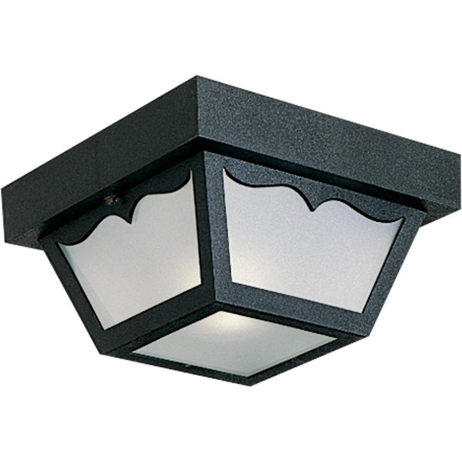 progress lighting 8 25 in w black outdoor flush mount light