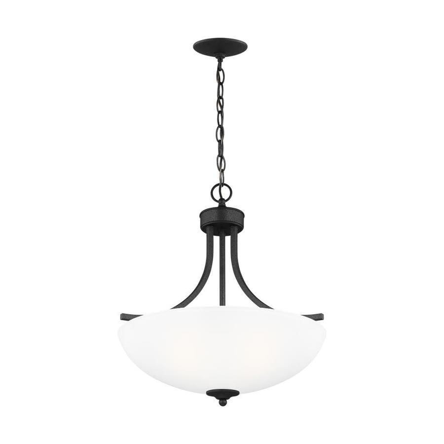 sea gull lighting geary blacksmith transitional etched glass bowl pendant light