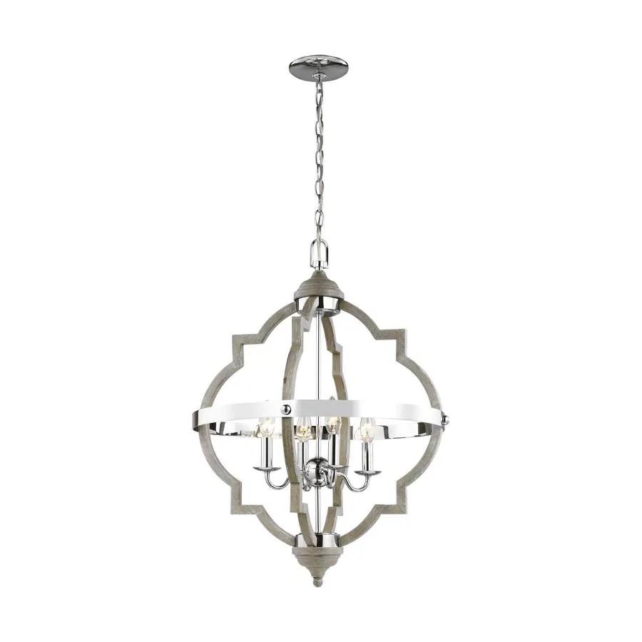 sea gull lighting socorro 20 875 in w 4 light washed pine hall foyer pendant