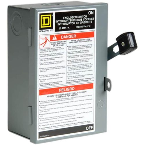 small resolution of square d 30 amp fusible metallic disconnect at lowes com reed switch wiring diagram square d