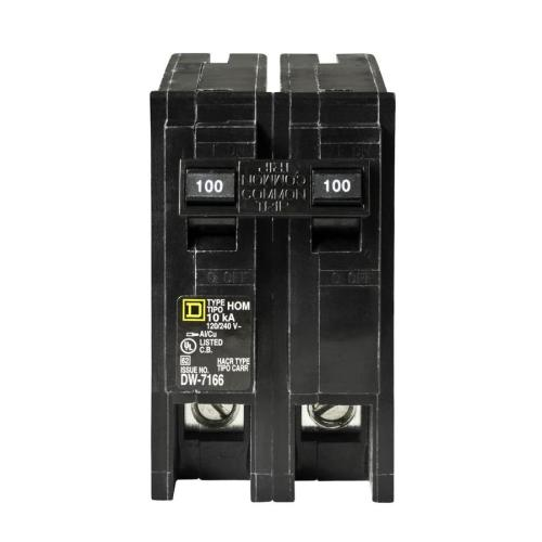 small resolution of square d homeline 100 amp 2 pole standard trip circuit breaker
