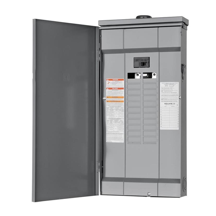 medium resolution of square d homeline 48 circuit 125 amp main breaker plug on neutral load center