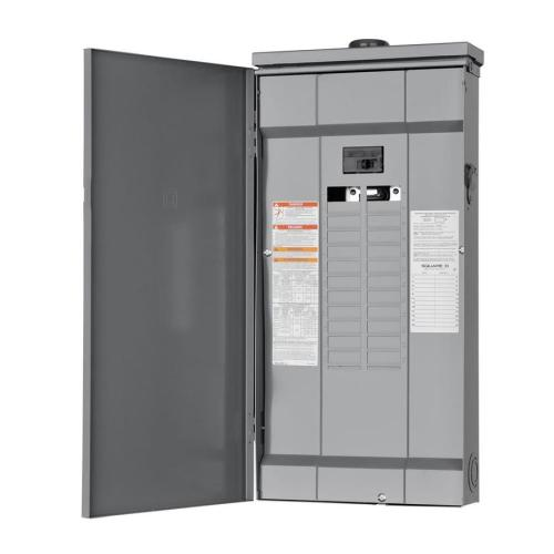 small resolution of square d homeline 48 circuit 125 amp main breaker plug on neutral load center