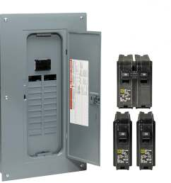 square d homeline 40 circuit 100 amp main breaker plug on neutral load [ 900 x 900 Pixel ]