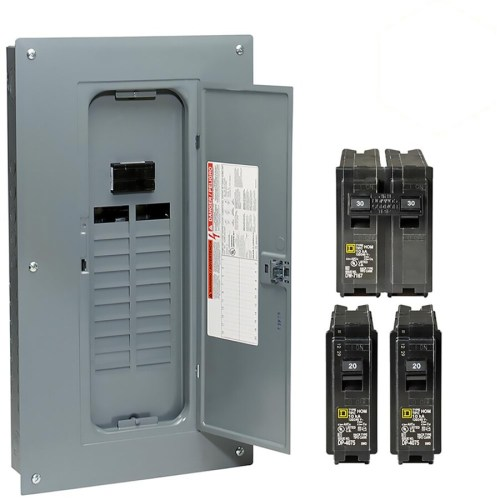 small resolution of square d homeline 40 circuit 100 amp main breaker plug on neutral load