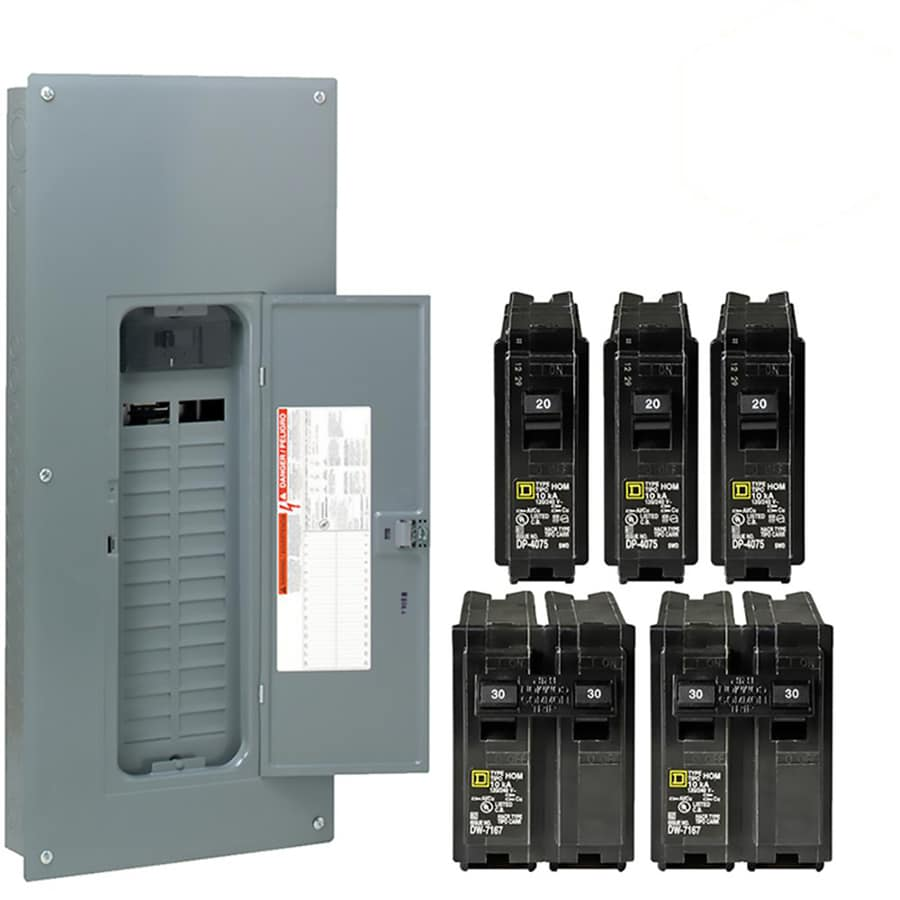 hight resolution of breaker boxes at lowes com 200 ge breaker panel diagram electrical sub panel breaker 50 rv plug