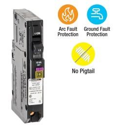 square d qo 15 amp 1 pole dual function afci gfci circuit breaker [ 900 x 900 Pixel ]