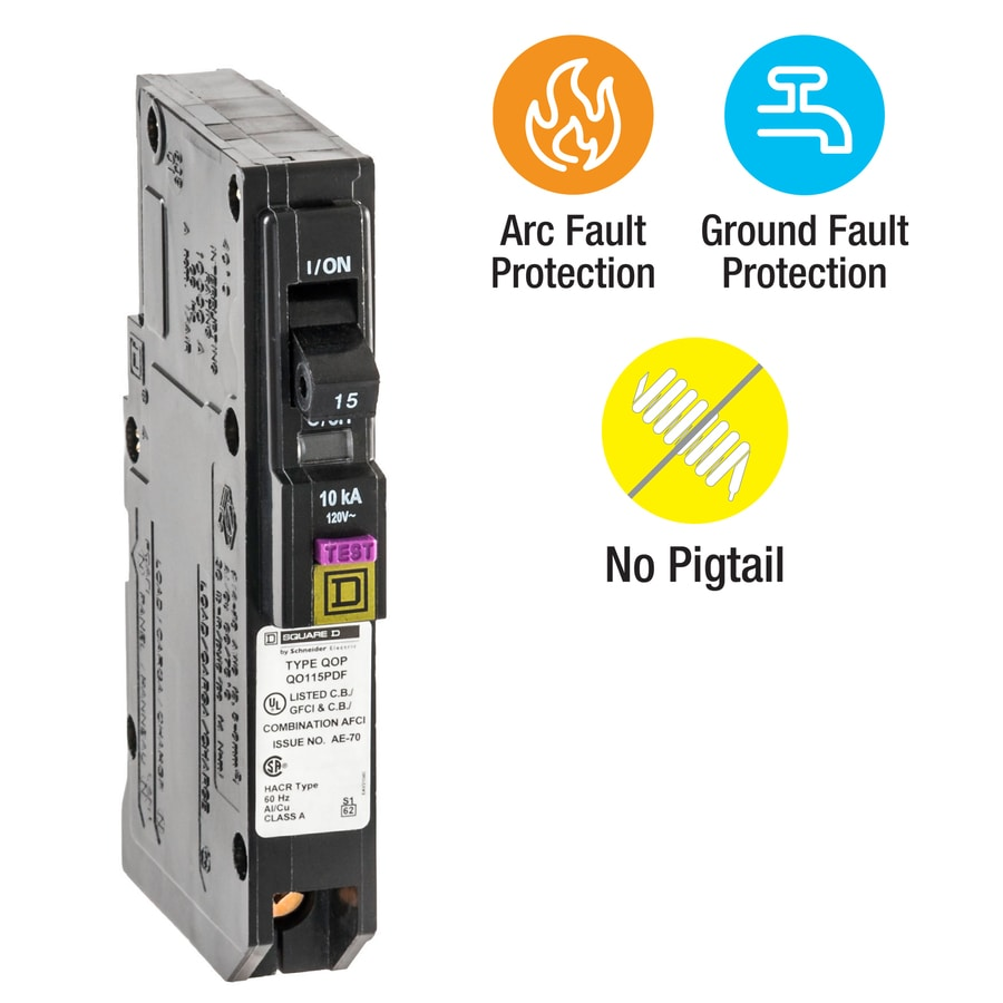 hight resolution of square d qo 15 amp 1 pole dual function afci gfci circuit breaker