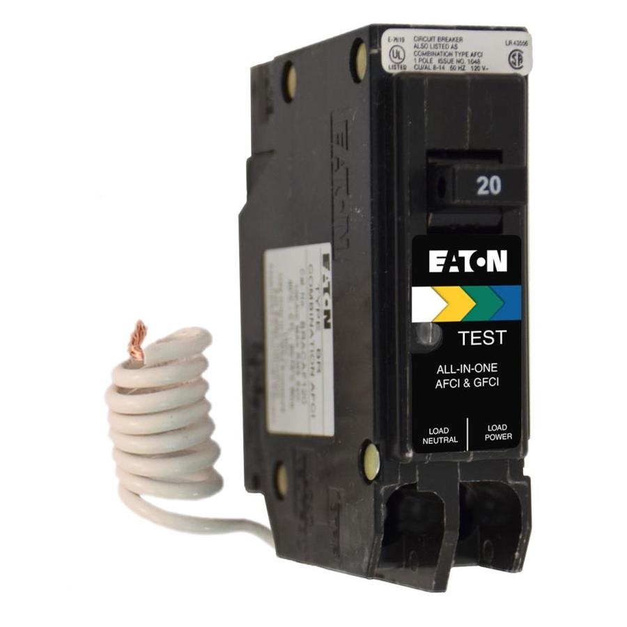 hight resolution of eaton type br 20 amp 1 pole dual function afci gfci circuit breaker