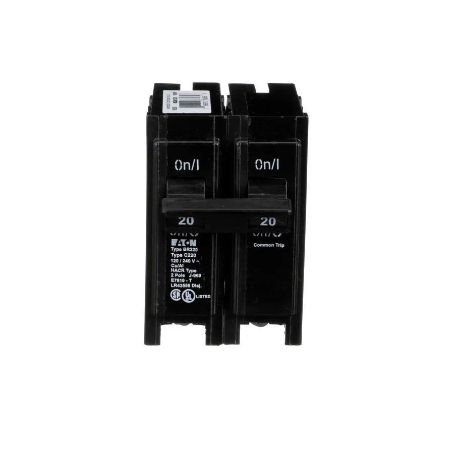 medium resolution of eaton type br 20 amp 2 pole standard trip circuit breaker