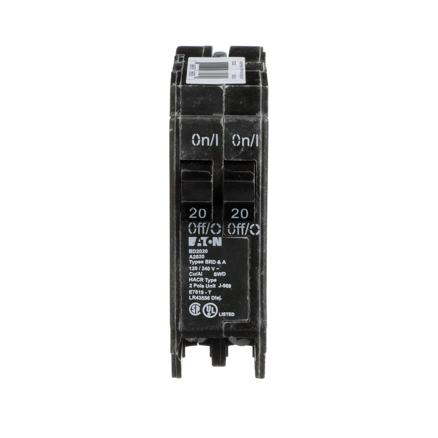 medium resolution of eaton type br 20 amp 2 pole tandem circuit breaker at lowes com
