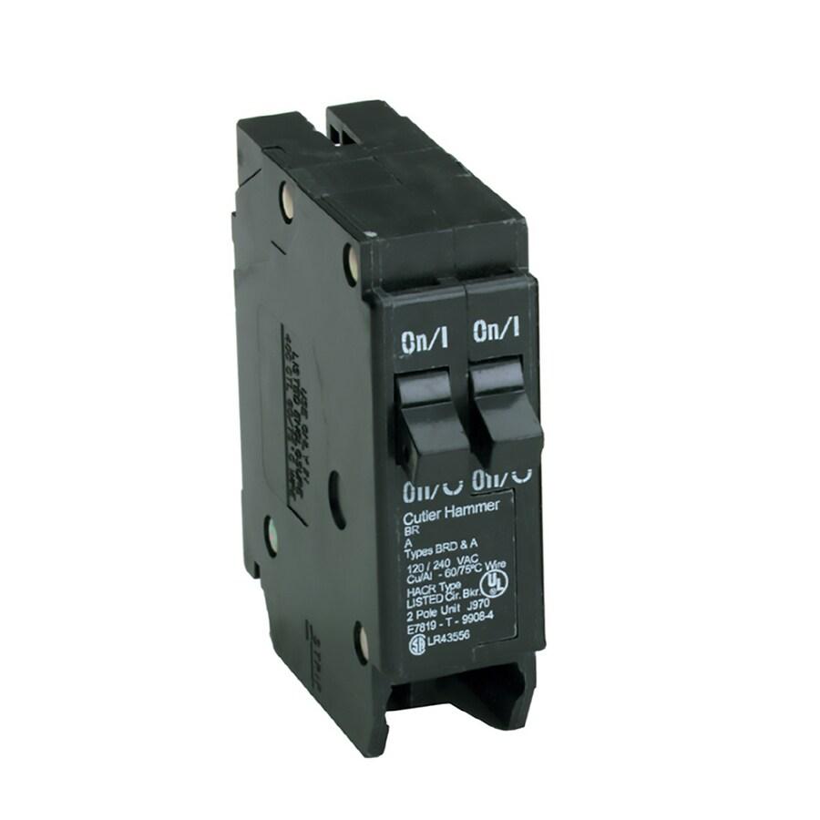 Westinghousebryant Br2020 2 Pole 20 Amp Circuit Breaker Used
