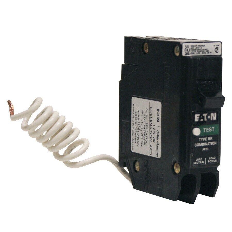 medium resolution of eaton type br 15 amp 1 pole combination arc fault circuit breaker